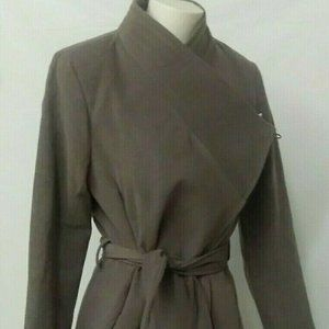 Suzy Shier Women's M Brown Trench Coat Belted